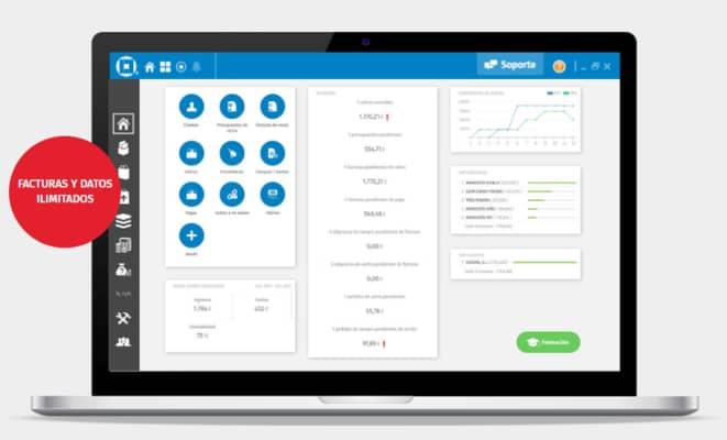 A3Factura digital . el mejor programa de contabilidad , con funciones como ERP CRM Facturación digital . ideal para ti autonomo