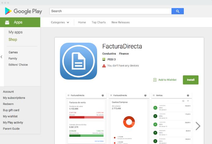 FacturaDirecta descarga programas de contabilidad